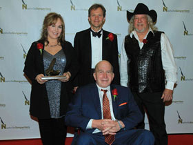 Paul Craft (front row), Gretchen Peters, Tom Douglas and John Anderson